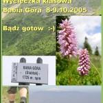 Babia Góra wycieczka klasowa plakat