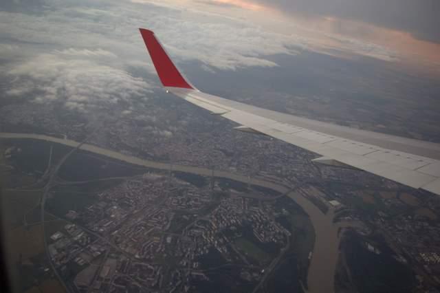 Wiedeń i Dunaj z samolotu