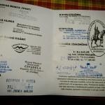 Legitymacja Olomoucky Spacir - odwiedzone i zaliczone knajpki