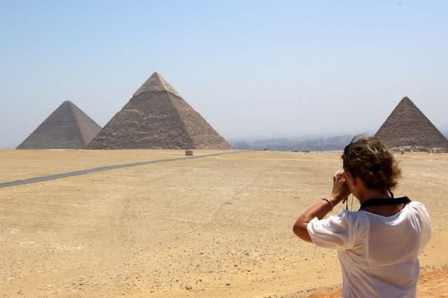 Egipt, piramidy w Giza