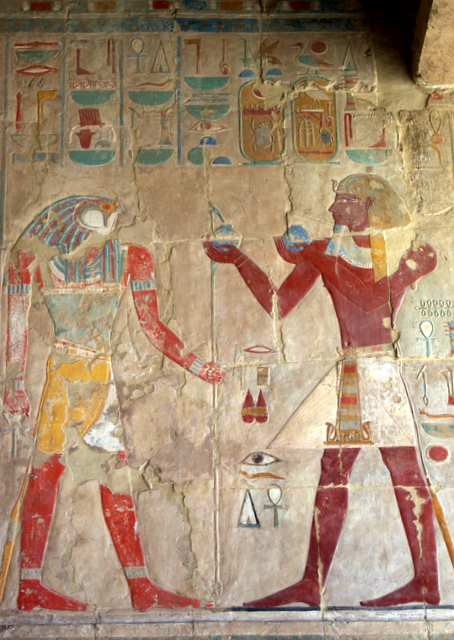 Świątynia Hatszepsut malowidła