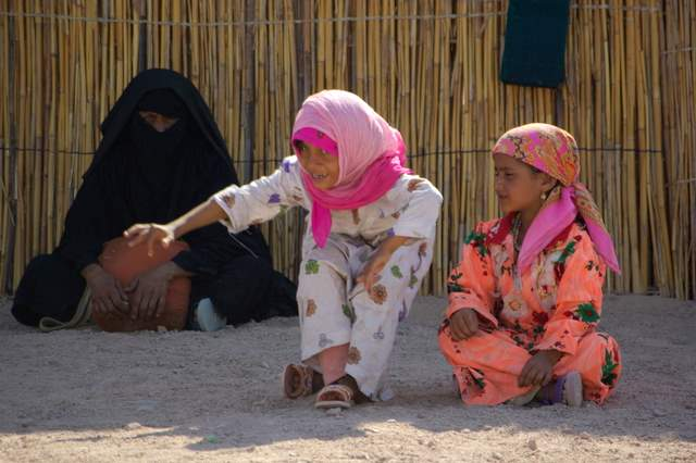 safari po pustyni, wioska beduinów