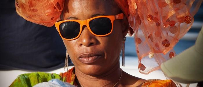 bajecznie kolorowe kobiety Gambii i Senaglau