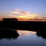 ziemiecice-zachod-slonca-nad-jeziorem