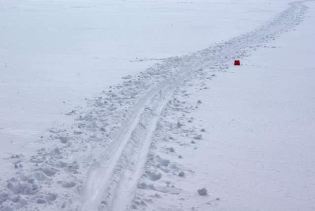 Kozłów Rachowice ślad narciarski