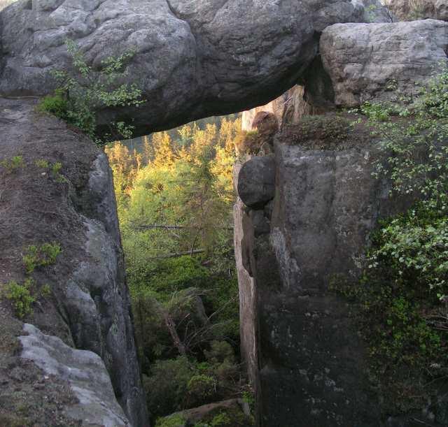 Szczeliniec Wielki okno skalne