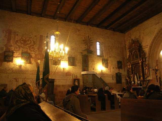 Tarczek, zabytkowe wnętrze kościoła