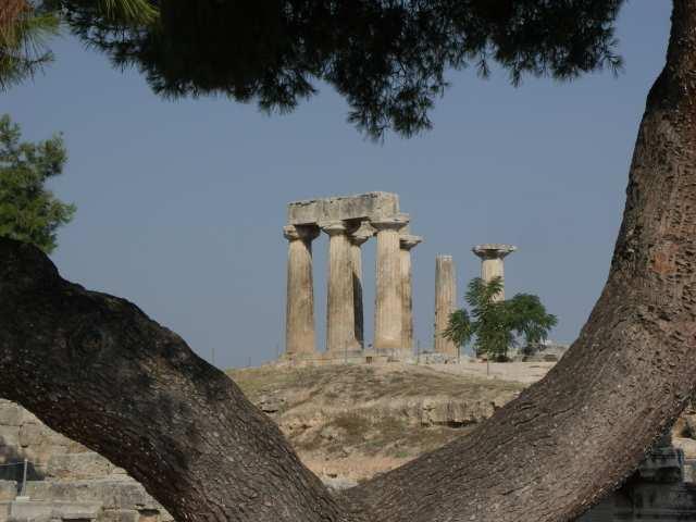 Korynt świątynia Appolina