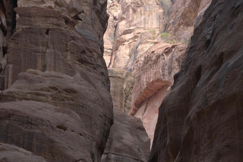 Petra, skały w wąwozie Sik