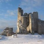 mirow-zamek-zima