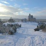 widok-na-zamek-zima-Mirow