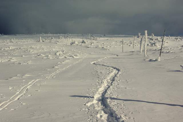 przetarty szlak, Karkonosze zimą