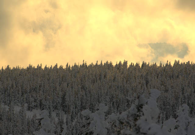 zachód słońca, karkonosze, góry