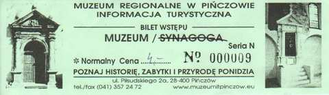 Bilet wstępu do muzeum - Pińczów