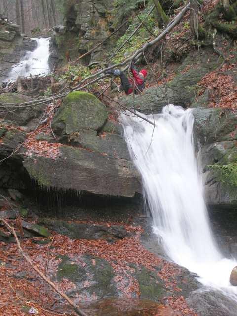 Kaskady Rodła, wodospad