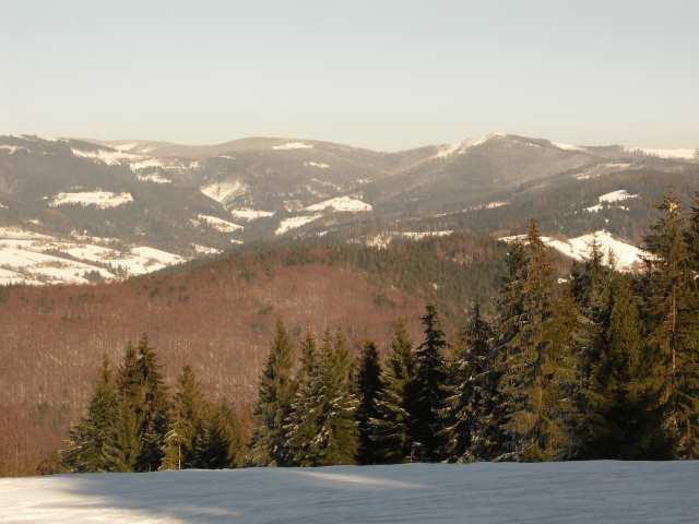 Panorama z tras biegowych na Kubalonce