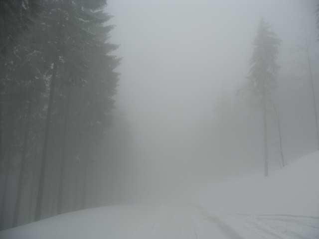 Szybki zjazd na Przełęcz Salmopolską