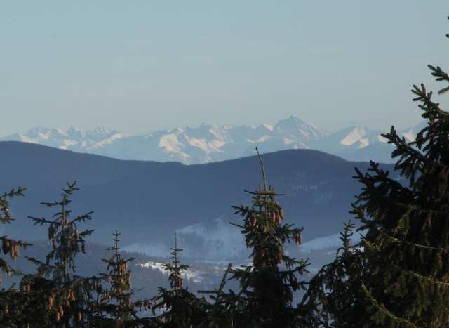 Barania Góra - widok na Tatry, Lodowy
