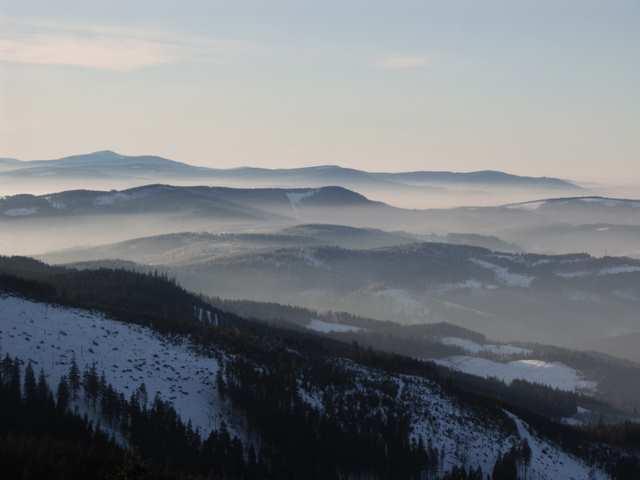 Barania Góra - Widok na Wisłę