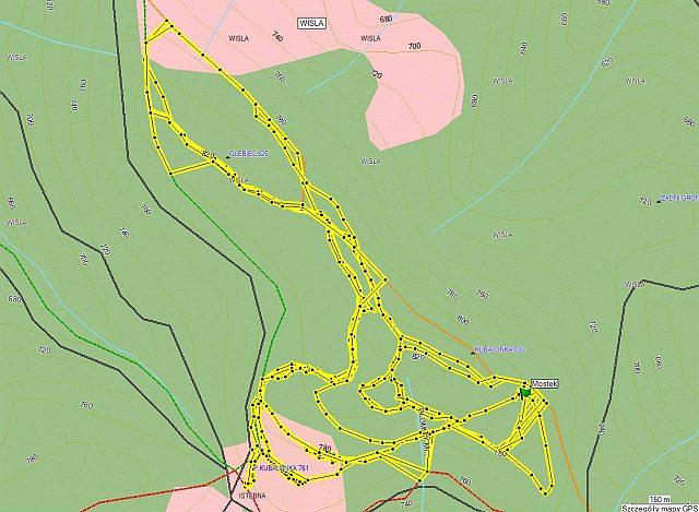 mapa tras biegowych na Kubalonce