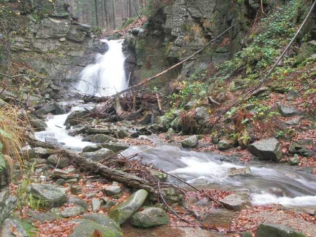 Górny wodospad jesienią