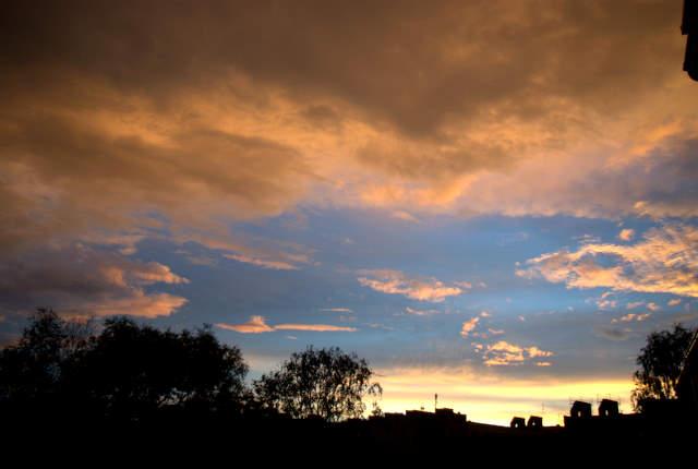 zachód słońca nad Gliwicami