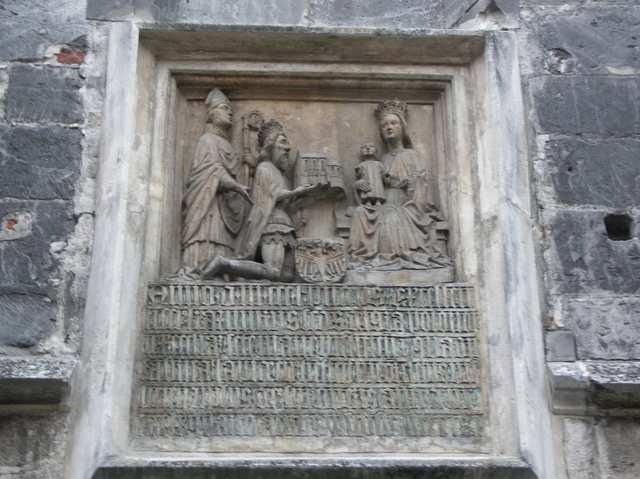 Wiślica Kazimierz Wielki i Madonna z dzieciątkiem