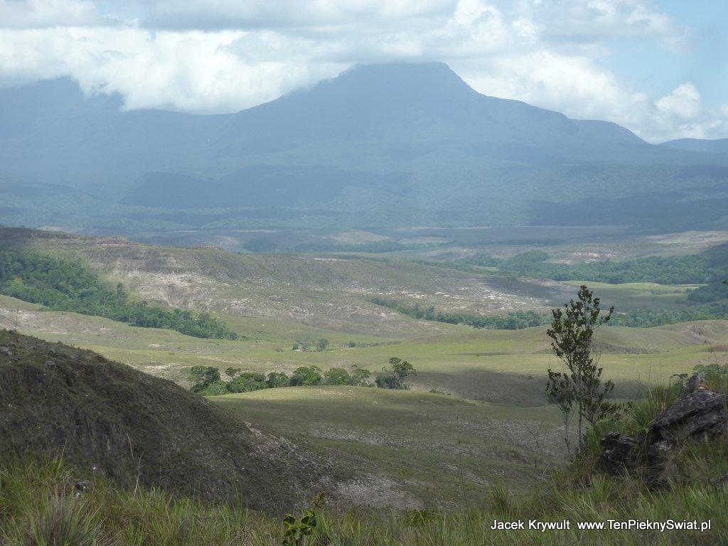 tepui Wodospad Salto Soroape Wenezuela