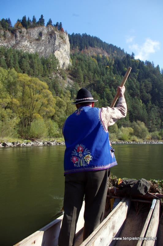 Spływ Dunajcem , flisak