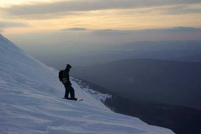 Snowboard na Babiej Górze