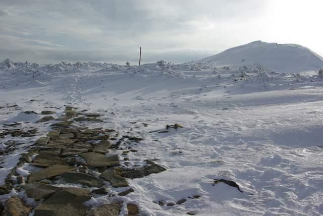 Szlak na Babią Górę z zimie
