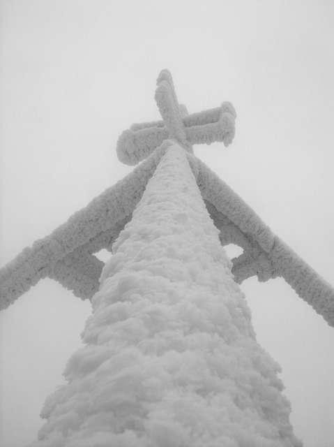 Szadź na wieży Barania Góra