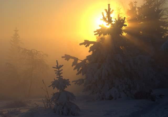 Leskowiec, zachód słońca