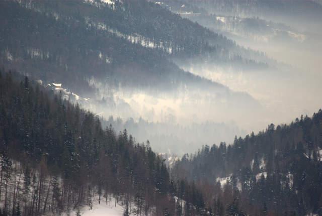 Smog w Szczyrku, zanieczyszczone powietrze