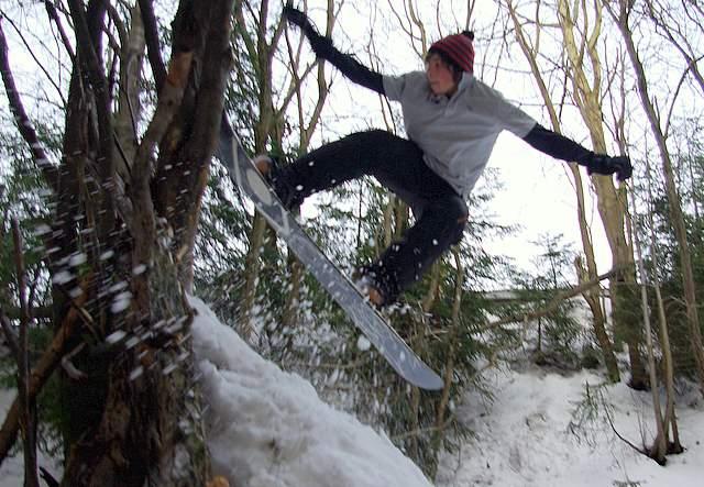Snowpark, skoki na snowboard