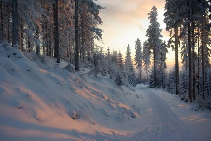 Beskid Śląski, szadź, ,wycieczka narciarska
