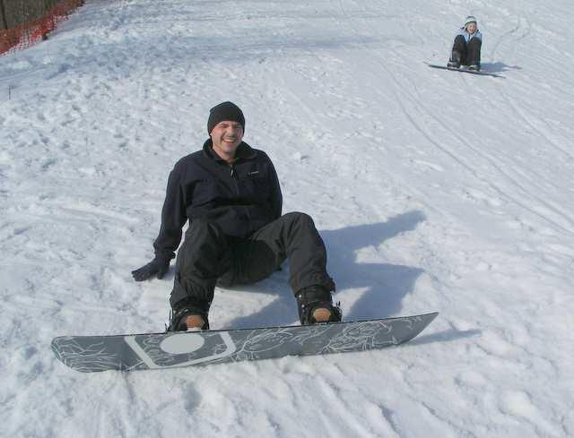 Snowboard, nauka jazdy