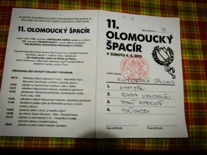 Olomoucky Spacir legitymacja