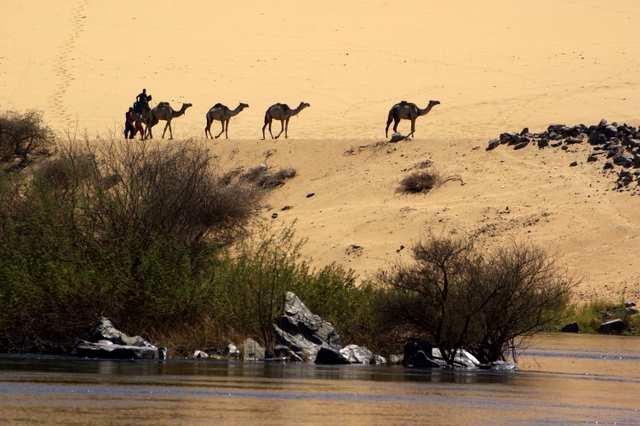 Wioska nubijska nad Nilem