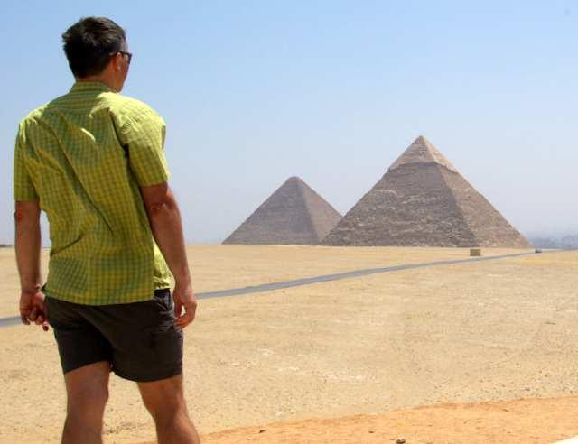 Giza, piramidy Cheopsa i Chefrena