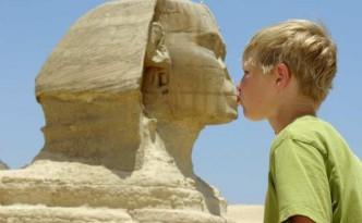 Sfinks, piramidy Egipt
