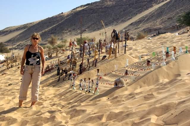 Wioska nubijska, sklep dla turystów