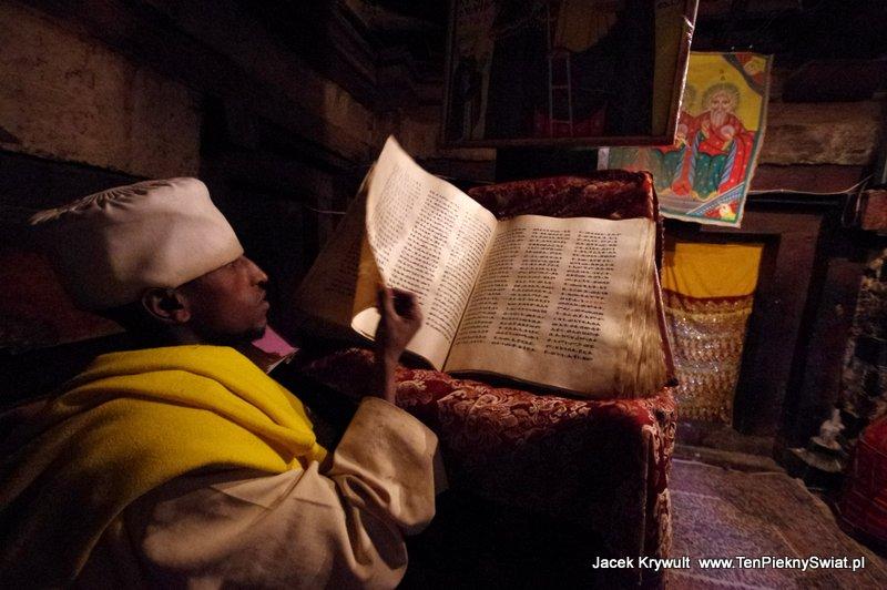 manuskrypt gyz Debre Damo Etiopia klasztor monastyr