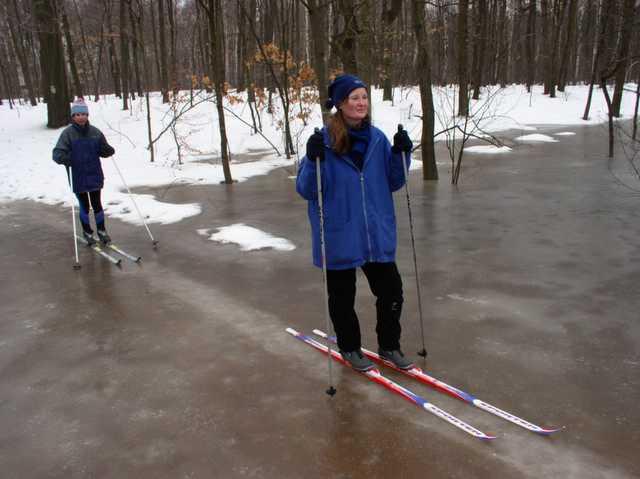 biegówki na lodzie