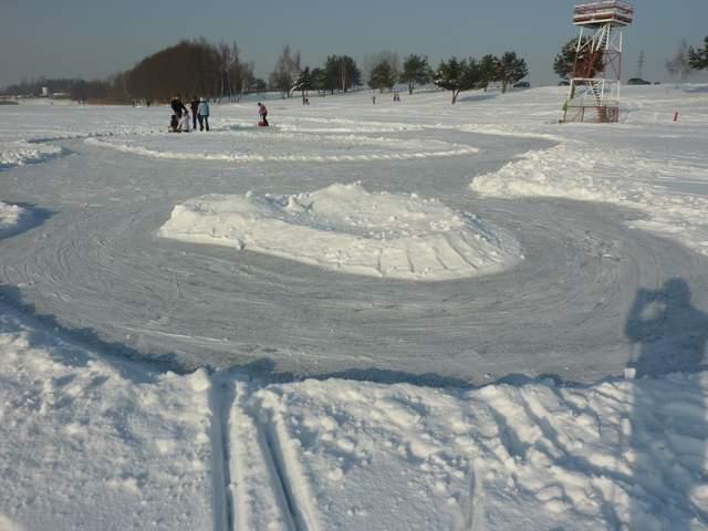 Pławniowice lodowisko, łyżwy na jeziorze