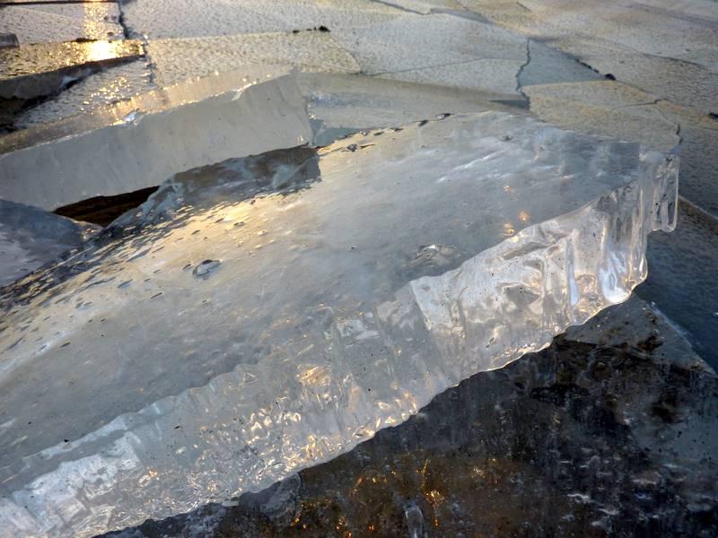 połamana kra lodowa