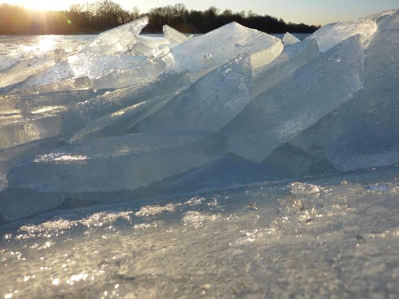 spiętrzona kra lodowa, lód