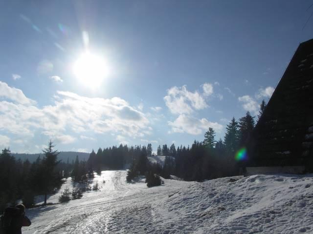 Tobołów, górna stacja wyciągu narciarskiego