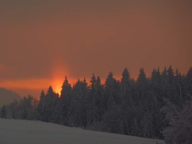 Góry Stołowe, zachód słońca