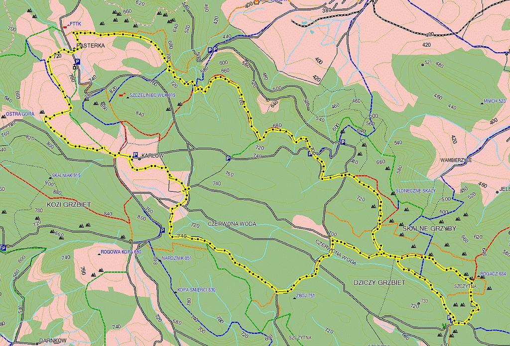 góry stołówe trasy biegowe